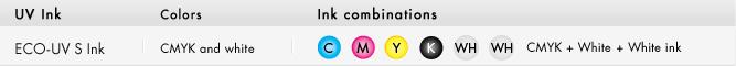 Konfiguracja kolorów ECO-UV S